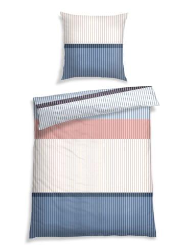 Schiesser Komplet pościeli renforcé w kolorze niebiesko-kremowo-jasnoróżowym