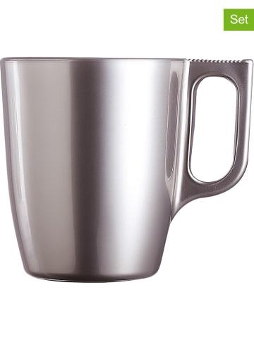 """Luminarc Kubki (6 szt.) """"Flashy"""" w kolorze srebrnym do kawy - 250 ml"""