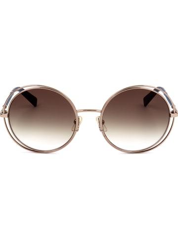 Longchamp Damen-Sonnenbrille in Gold/ Hellbraun