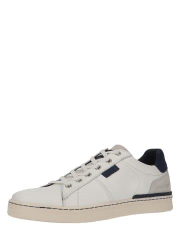 Bullboxer Skórzane sneakersy w kolorze białym