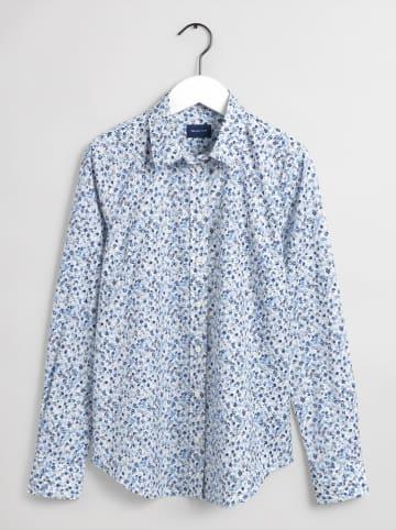 Gant Hemd in Creme/ Blau