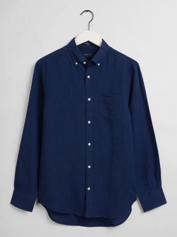 Gant Linnen blouse donkerblauw