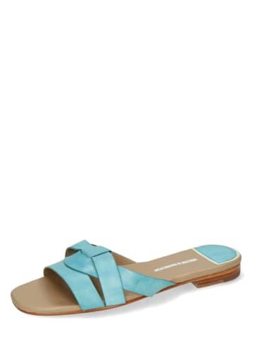 """MELVIN & HAMILTON Skórzane sandały """"Elodie 40"""" w kolorze turkusowym"""