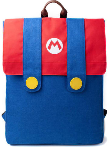 Difuzed Plecak w kolorze czerwono-niebieskim - 31 x 41 x 3 cm