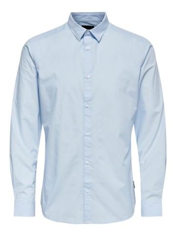 """ONLY & SONS Koszula """"Luis"""" - Regular fit - w kolorze błękitnym"""