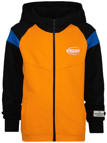 """Vingino Sweatvest """"Olefo"""" oranje/zwart"""