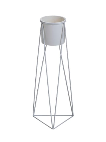 InArt Bloemenrek wit - (B)18 x (H)45 x (D)18 cm