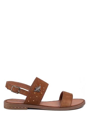 Lasocki Leren sandalen camel