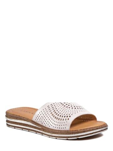 Lasocki Leren slippers wit