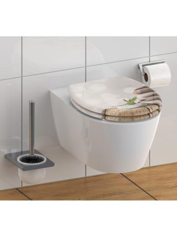 """Schütte Toiletbril met softclose """"Stone pyramid"""" beige"""