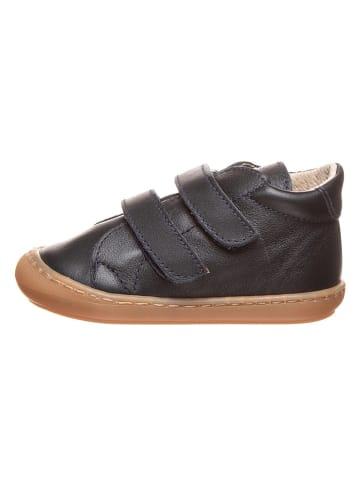 Kmins Leder-Sneakers in Dunkelblau