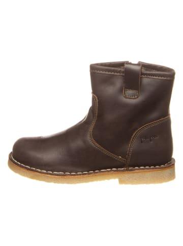 POM POM Leren boots bruin
