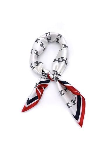Made in Silk Jedwabna chusta w kolorze biało-czarno-czerwonym - (D)52 x (S)52 cm