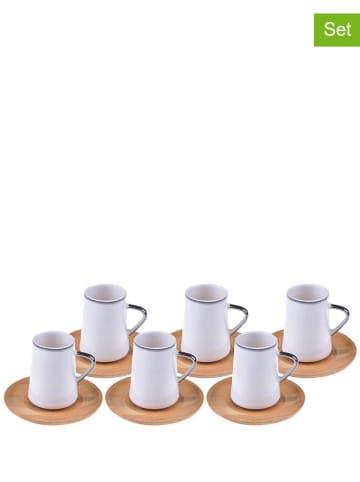 Bambum Kubek (6 szt.) w kolorze białym do herbaty - (W)9,5 x Ø 6 cm