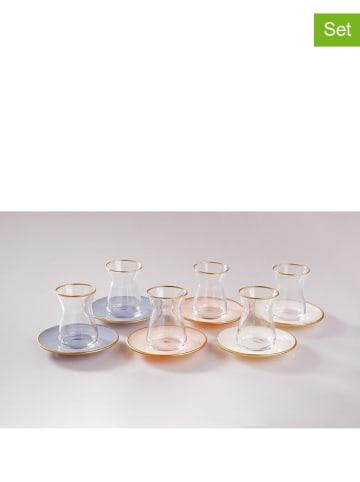 Bambum Szklanka (6 szt.) w kolorze różnych kolorach do herbaty - (W)8,5 x Ø 6 cm