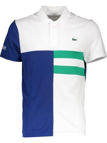 Lacoste Koszulka polo w kolorze zielono-niebiesko-białym