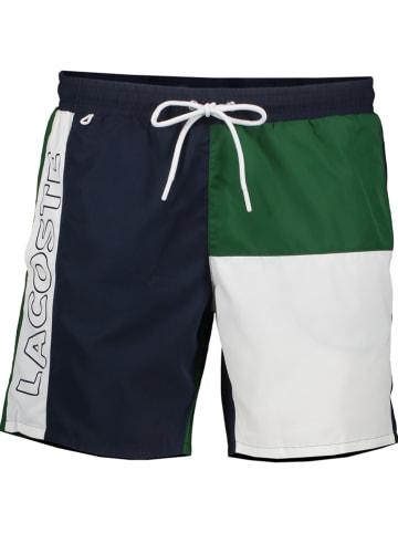 Lacoste Szorty kąpielowe w kolorze granatowo-zielono-białym