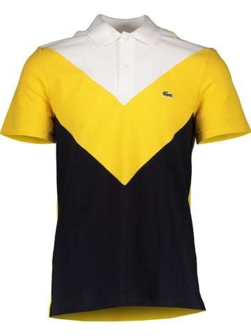 Lacoste Koszulka polo w kolorze czarno-żółto-białym
