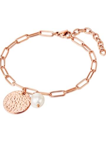 KAIMANA Rosévergulde armband met parels en hanger