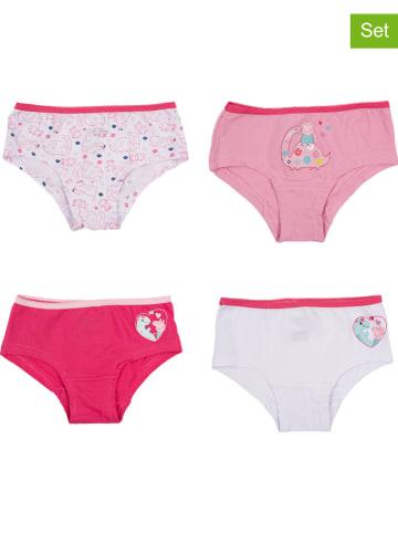 United Labels Pełne majtki (4 pary) w kolorze biało-różowym