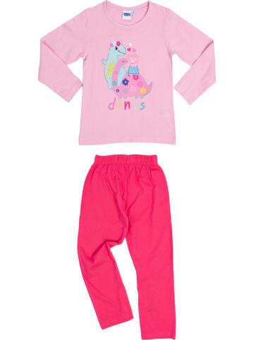 """United Labels Piżama """"Peppa"""" w kolorze różowym"""