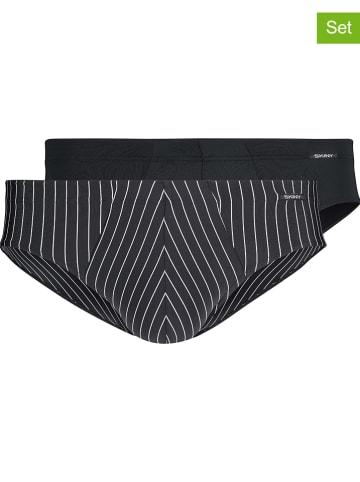 Skiny 2-delige set: slips zwart/wit