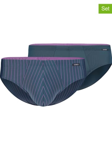 Skiny 2-delige set: slips donkerblauw/paars