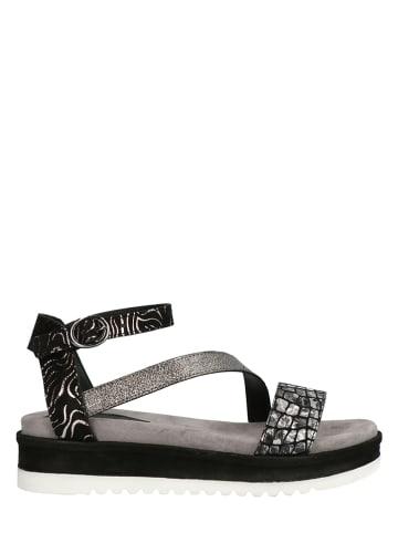 Lazamani Sandalen zwart/zilverkleurig