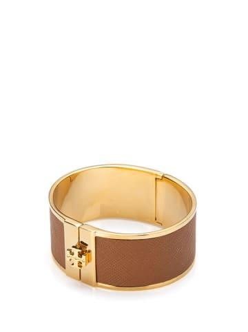 Tory Burch Bransoletka w kolorze złoto-brązowym