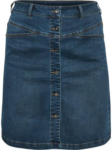 KAFFE curve Spódnica dżinsowa w kolorze niebieskim