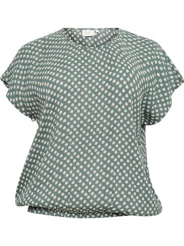 """KAFFE curve Bluzka """"Vicky"""" w kolorze zielonym"""