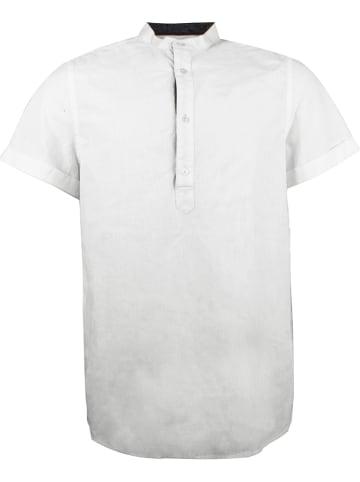 """INDICODE Koszula """"Mao"""" w kolorze białym"""