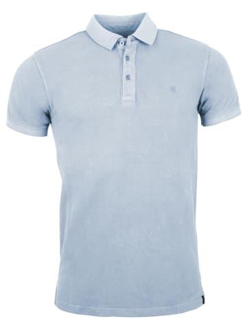 "INDICODE Poloshirt ""Ward"" lichtblauw"