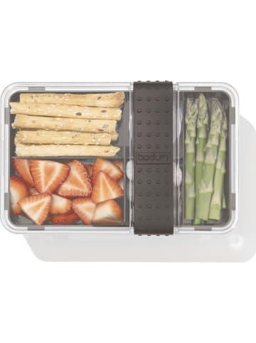"Bodum Lunchbox ""Bistro"" transparant/zwart - (B)20,8 x (H)8,6 x (D)13,5 cm"