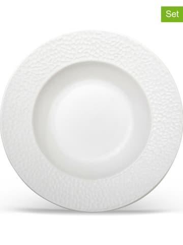 """Laguiole Talerze głębokie (6 szt.) """"Emilie"""" w kolorze białym - Ø 22 cm"""