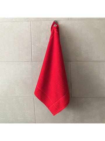 Laguiole Ręcznik kuchenny w kolorze czerwonym do rąk - 50 x 50 cm