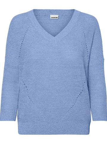 """Noisy may Sweter """"Nmsian"""" w kolorze błękitnym"""