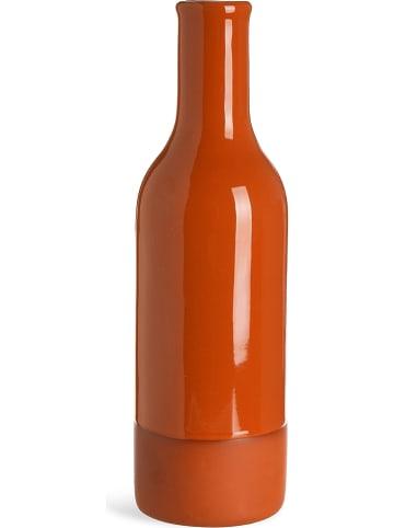 """Depot Wazon """"Twotone"""" w kolorze pomarańczowym - wys. 21 x Ø 6,5 cm"""