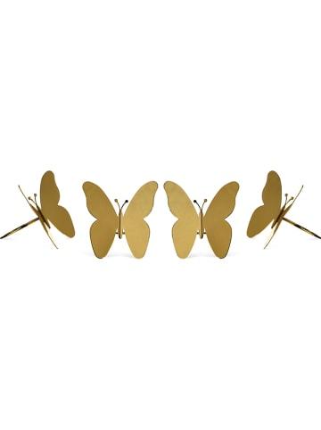 """Depot Servetringen """"Vlinder"""" goudkleurig - 4 stuks"""