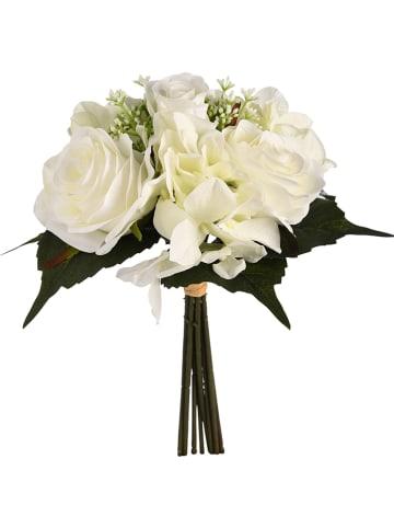 Depot Bukiet sztucznych kwiatów w kolorze białym - dł. 31 cm