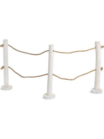 """Depot Płot dekoracyjny """"Seaside"""" w kolorze białym - 60 x 40 cm"""