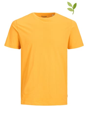 "Jack & Jones Koszulka ""Organic Basic"" w kolorze żółtym"