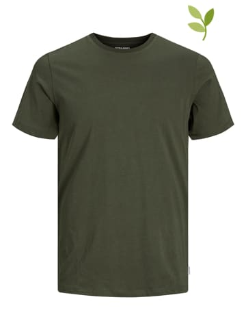 "Jack & Jones Koszulka ""Organic Basic"" w kolorze khaki"