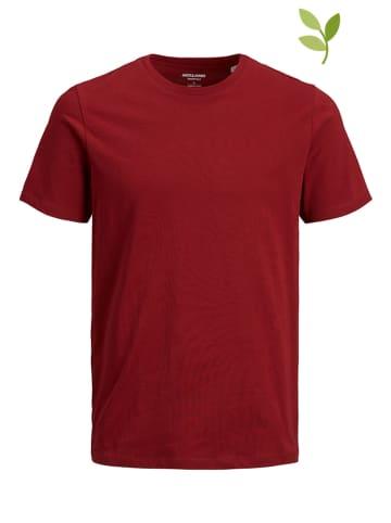 """Jack & Jones Koszulka """"Organic Basic"""" w kolorze czerwonym"""