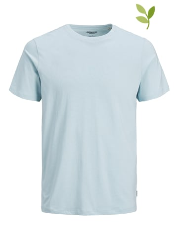 "Jack & Jones Koszulka ""Organic basic"" w kolorze błękitnym"