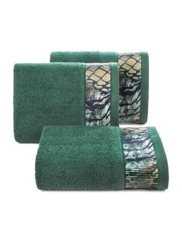 """Eva Minge Ręcznik """"Carla"""" w kolorze zielonym ze wzorem"""