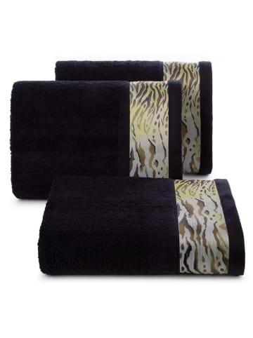 """Eva Minge Ręcznik """"Cecil"""" w kolorze czarnym ze wzorem"""