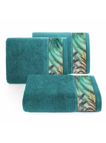 """Eva Minge Ręcznik """"Collin"""" w kolorze turkusowy ze wzorem"""
