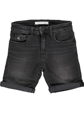 Calvin Klein Dżinsowe szorty - Slim fit - w kolorze czarnym