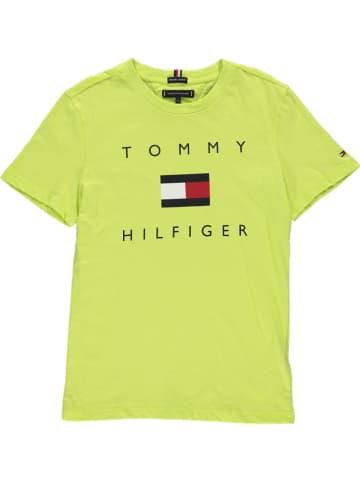 Tommy Hilfiger Koszulka w kolorze jaskrawozielonym